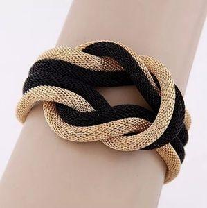 Jewelry - Braded Women Gold & Black Bracelet